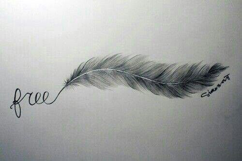 Free Feather Tattoo Idea