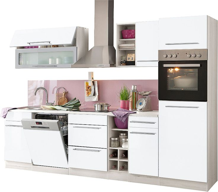 Küchenzeile, Held möbel, »Avignon«, ohne E-Geräte, Breite 300 cm