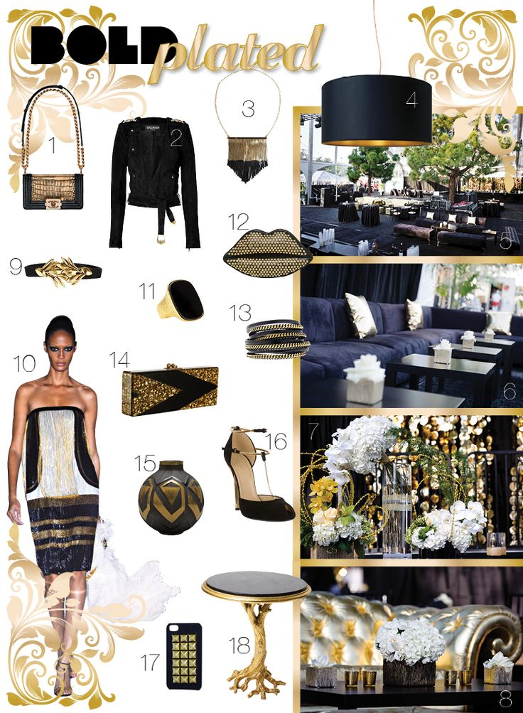 12 Best Black White And Gold 21st Theme Images On Pinterest