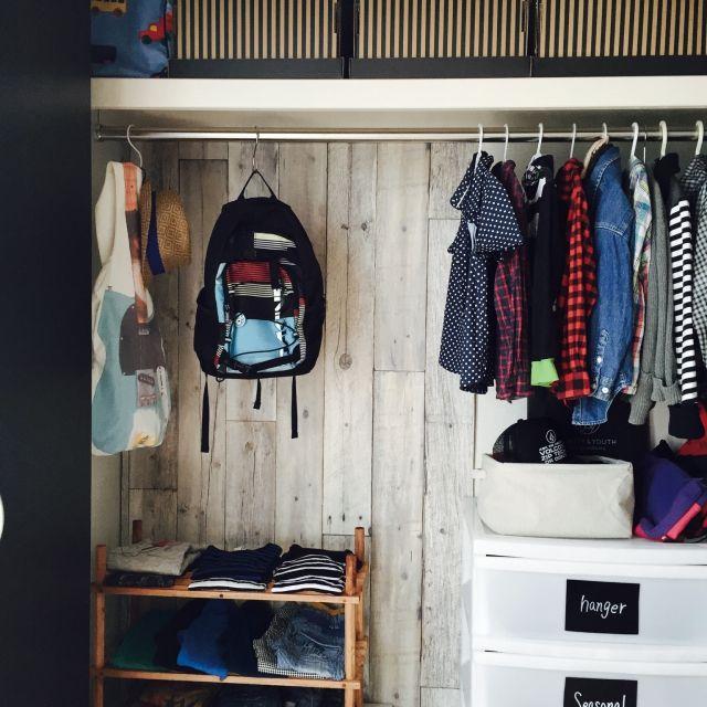 kitoneさんの、ベッド周り,IKEA,クローゼット,雑貨,子供部屋,DIY,シンプル,キッズスペース,子供服,壁紙屋本舗,男前,子供と暮らす。,こどもと暮らす。,塩系インテリア,のお部屋写真