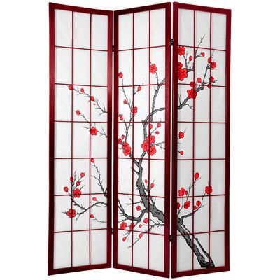 Tall Cherry Blossom Screen Room Divider from Wayfair