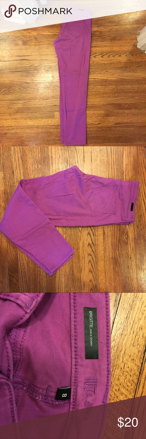 Kut from the Kloth purple skinnies. Purple/magenta Kut from the Kloth ankle length skinnies. Great color for summer! Excellent condition. Size 8. 98% cotton and 2% spandex. Kut from the Kloth Pants Skinny