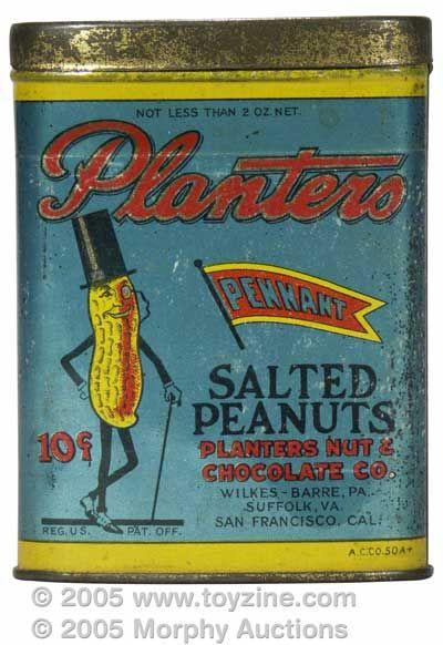Planters Peanuts tin 1920s