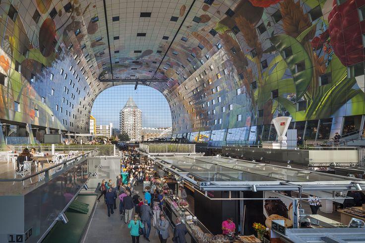 MVRDV, Rotterdam Markthal, Rotterdam, the Netherlands.