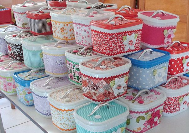 Beautiful recycled Ice cream containers