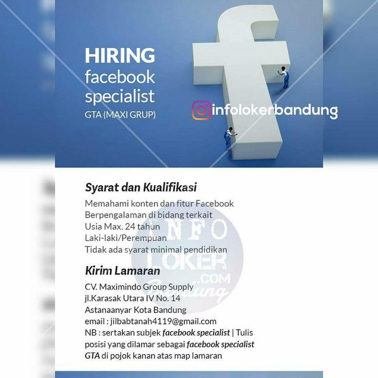 Lowongan Kerja Facebook Specialist GTA Maxi Grup Bandung Maret 2018