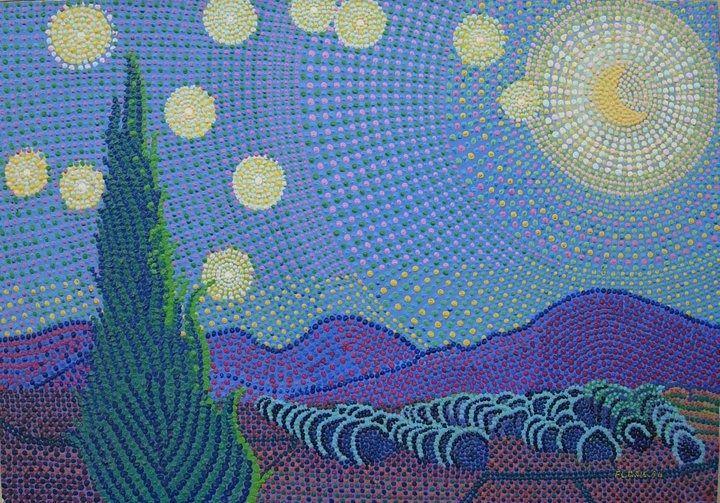 """IL Cipresso Solitario.(Dedicato a Van Gogh), Movimento Artistico """"Goccismo"""". http://fc-foto.it/26657658"""