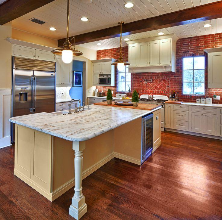 Painted white oak kitchen cabinets - Farmhouse Kitchen Designed By Monarch Kitchen Amp Bath