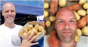 Hizo dieta extrema y sólo comió patatas durante 43 días. Bajó tanto de peso que quedó irreconocible