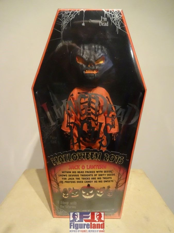 New stock arrival 17-10-2016.  Mezco Toyz Living Dead Doll Jack O Lantern Black and Orange variant.  A UK exclusive with only 666 manufactured as a Halloween special.