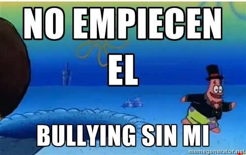 meme patricio bob esponja, risa chiste bullying