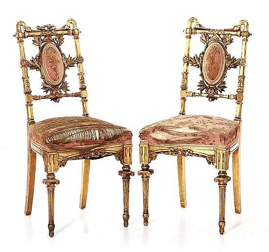 Buy online, view images and see past prices for Pair Herter Brothers carved  giltwood side chairs Invaluable is the world's largest marketplace for art,  ... - 972 Best Luxury Sofas Chairs & Settees Images On Pinterest