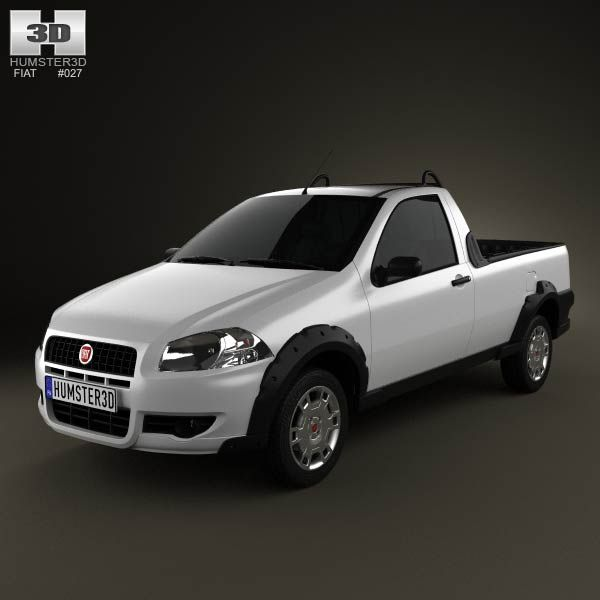 Fiat Strada Short Cab Working 2012 3d model from humster3d.com. Price: $75