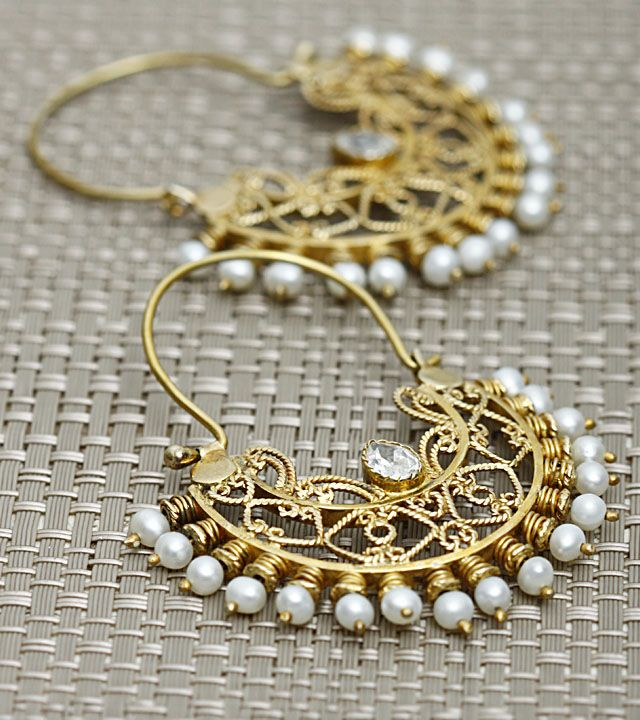 Pearl Embellished Sterling Silver Earrings