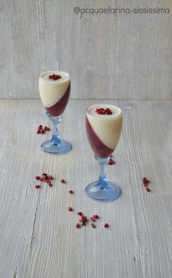acqua e farina-sississima: bicchieri al melograno e tè all'ibisco con yogurt al miele e zenzero