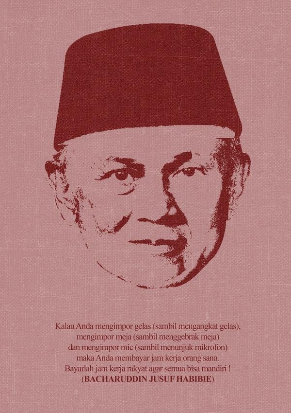 Einstein from Indonesia, Habibie by Vembri Rizky, via Behance