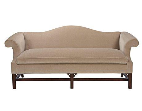Camelback sofa ethan allen ethan allen queen anne sofa for Sofa bed 54 wide