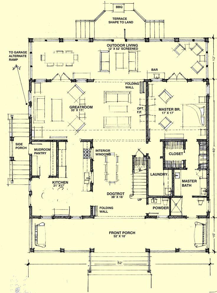 Best 25 dog trot house ideas on pinterest pole barn for Dogtrot home plans
