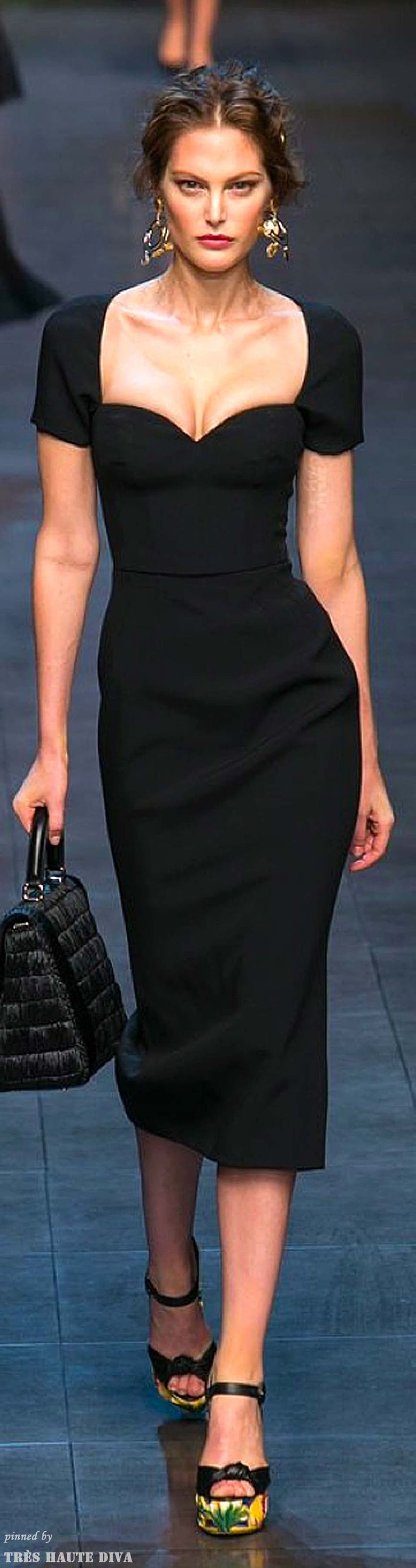 A long black dress quarter