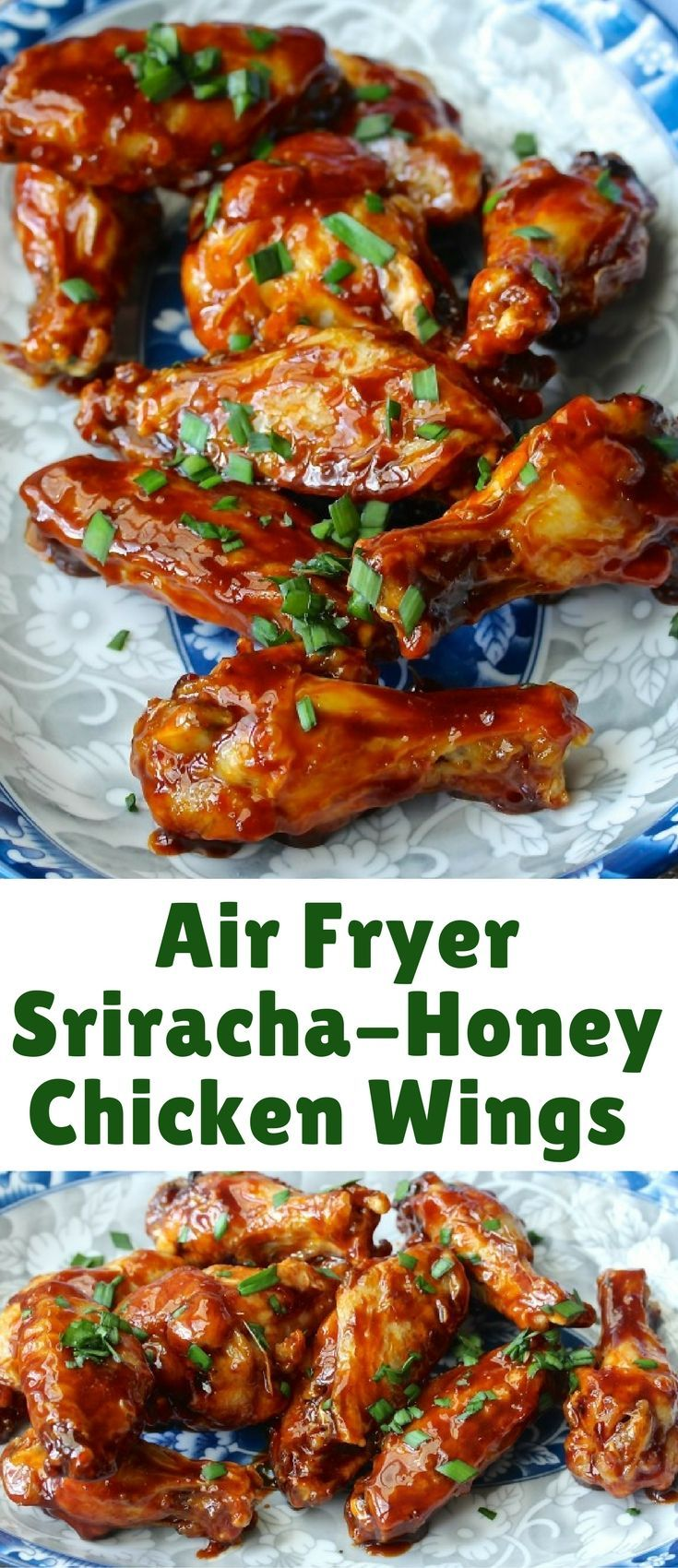 These Air Fryer Sriracha-Honey Wings are super crispy, spicy sweet, and ready in 30 minutes. It was really difficult to not keep them all to myself.