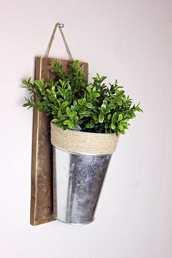 Farmhouse Decor Rustic Metal Wood Planter Affiliate Decoration Jardin Interieur Interieur