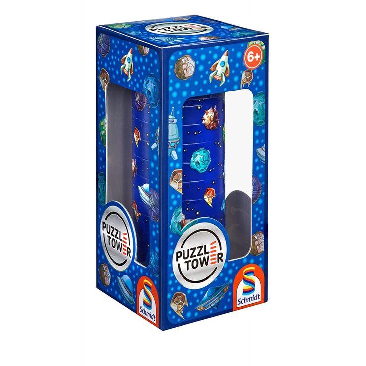 Kirakó torony- Világűr Puzzle Tower Space, logikai játék 6 éves kortól - Schmidt Spiele #AkebiaJáték #akebiajatek