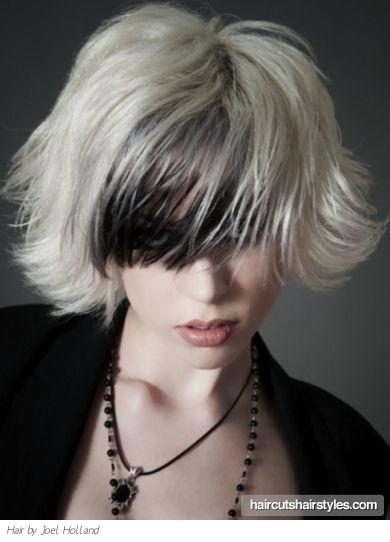 Two Tone Medium Hairstyle