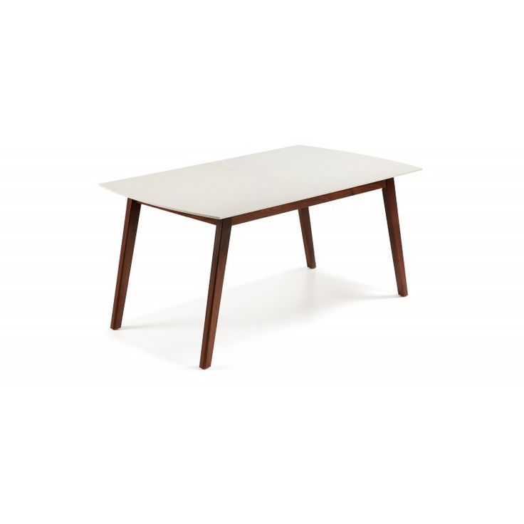 Mesa de comedor NUT. Extensible; Disponible en dos medidas, colores blanco y nogal