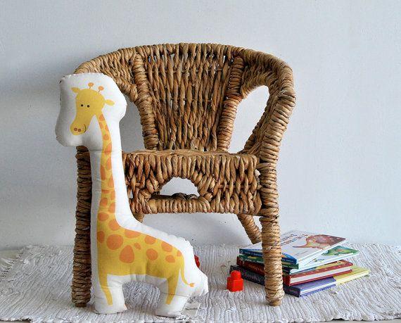 stuffed animal Giraffe cotton stuffed toy yellow pillow