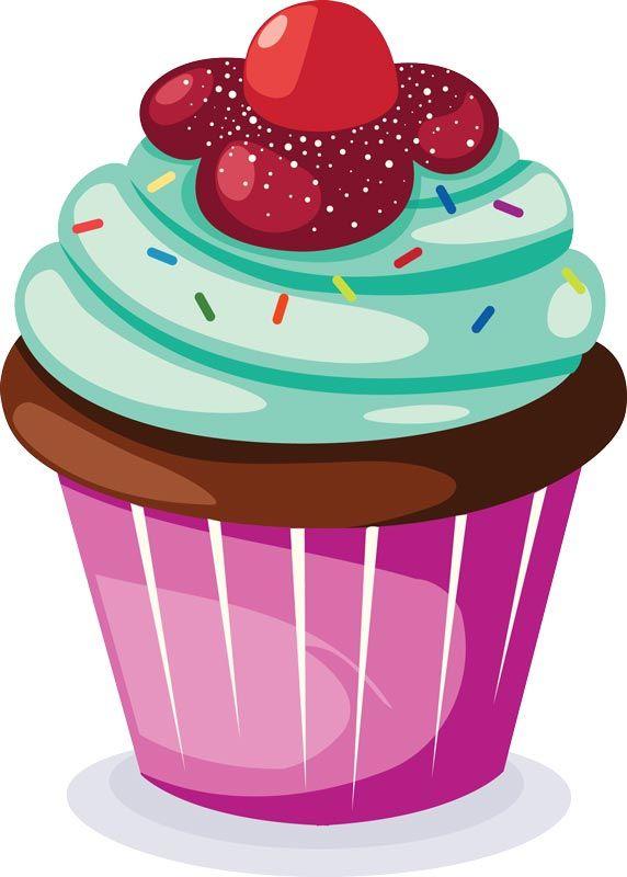1223 cupcake- clip art