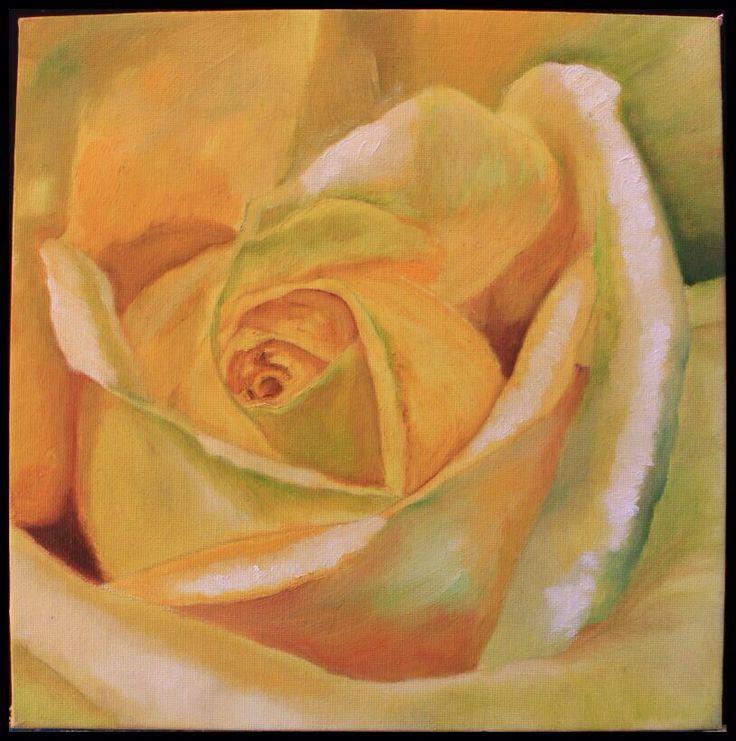 Green yellow rose
