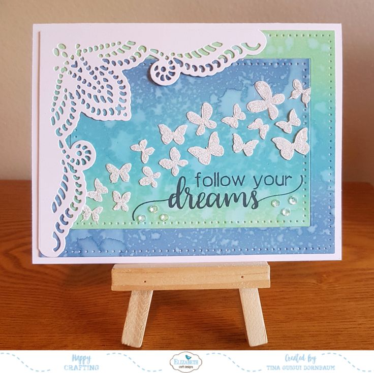 Follow Yours Dreams - with Butterflies