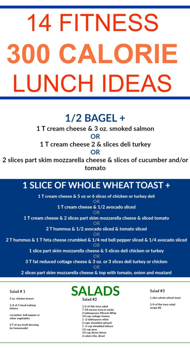 300 Calorie Lunch Ideas for weight loss, fitness and healthy nutrition. Budget friendly lunch ideas without cooking. My whole family loves this. Perfect for work or school lunch plus free printables