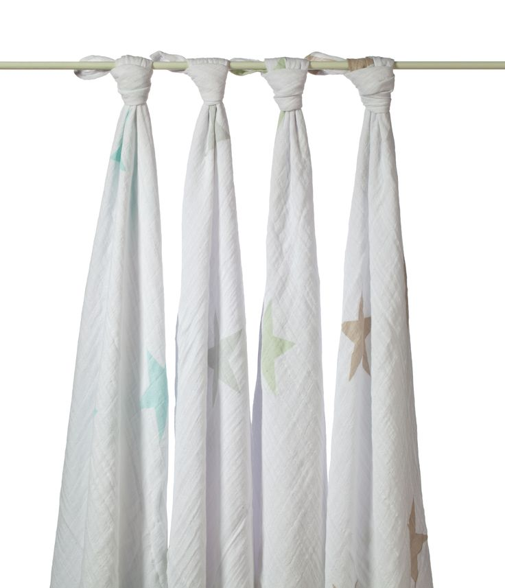 Lovely 100 percent cotton and muslin 4 pack star swaddles. Perfect for your new born or a baby shower or christening gift what ever the occasion these swaddles will provide security, warmth, and comfort. #babywraps #thelittlehaven