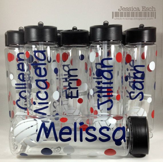 Personalized Volleyball Water Bottles~Team Gift~ Custom Design to Match your Team Colors