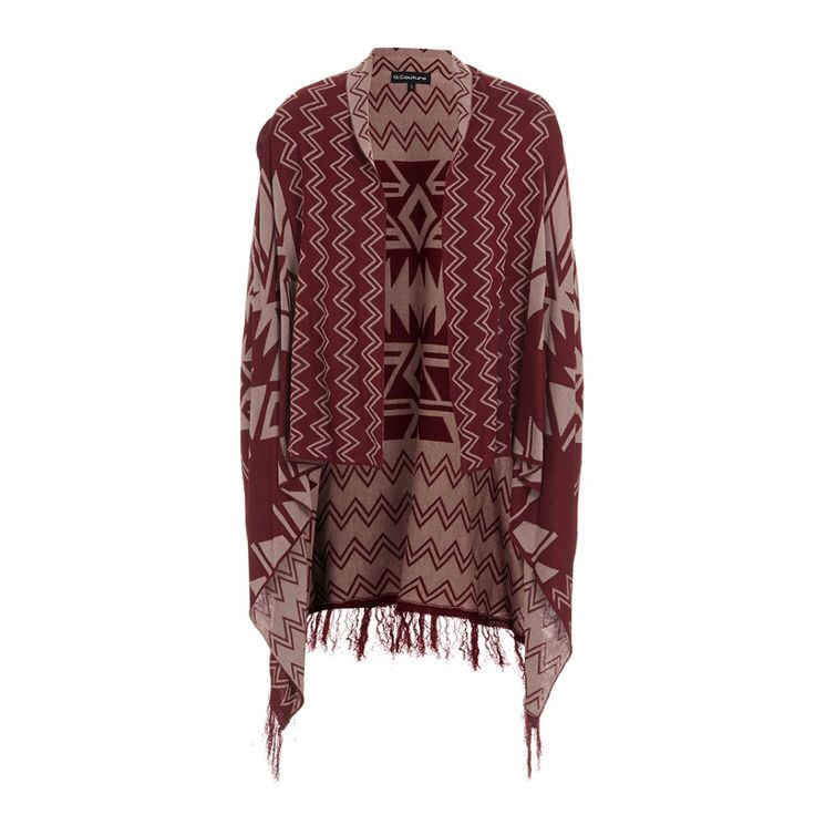 Fringed cardigan Red