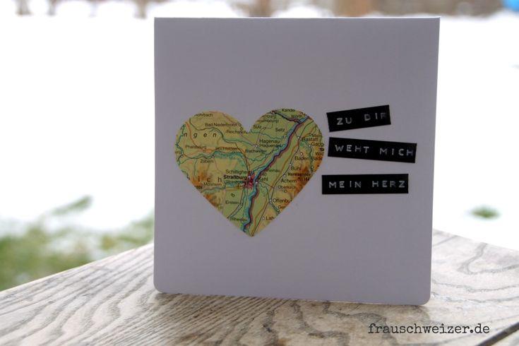 Handgemachte Karten FrauSchweizer: Liebe, verliebt, Herz, Valentinstag, Freunde
