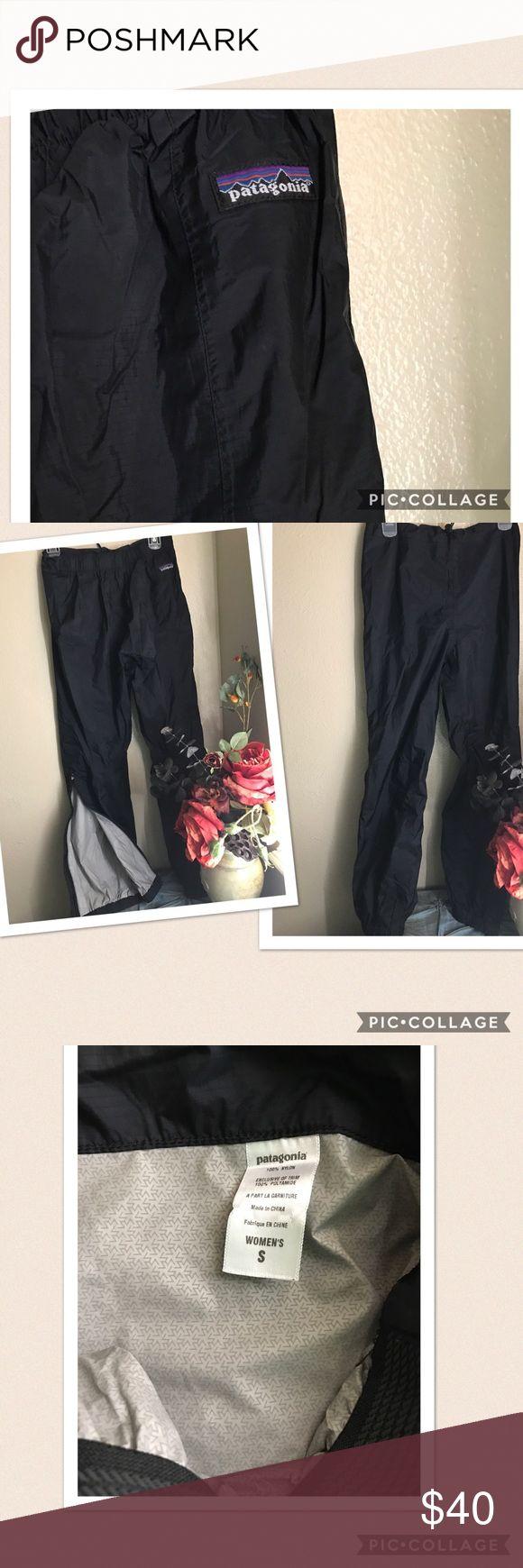 "🆕 Women's Patagonia Rain Ski Shell Pants Nylon 🆕 Women's Patagonia Rain Ski Snow Shell Pants. Side zipper closure. Pull cord at waistband. Material: 💯% nylon. Size: Small. Length: 40"", Seam: 29"". Color: Black. New without tag. Patagonia Pants"