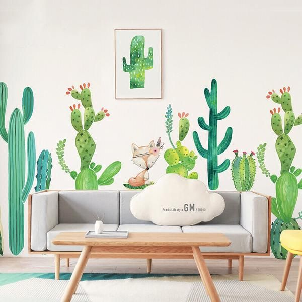 Cactus Wall Decal Decoracion De Muros Decoracion De Pared Y