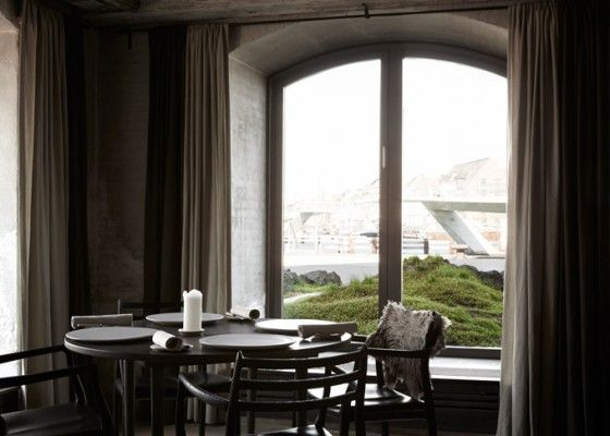 Paysage nordique au restaurant Noma, à Copenhague
