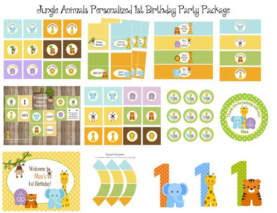 1000 images about baby zoo animals birthday party on for 1st birthday decoration packages