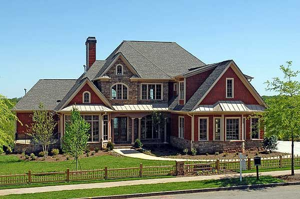 Plan W15632GE: Southern, Luxury, Corner Lot, Sloping Lot, Photo Gallery, European House Plans & Home Designs