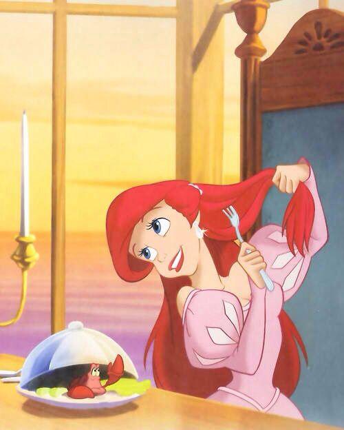 The little mermaid - best hair ever! Dream hair goal, oneday maybe :)