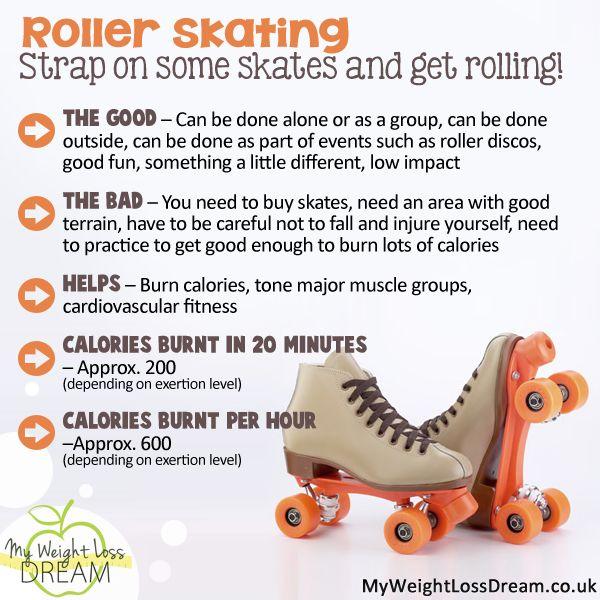 Roller skating facts for weight loss #weightloss #weightlosstips