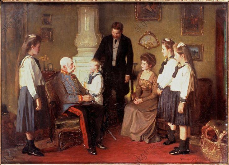 Kaiser Franz Joseph besucht die Gräfin Seefried