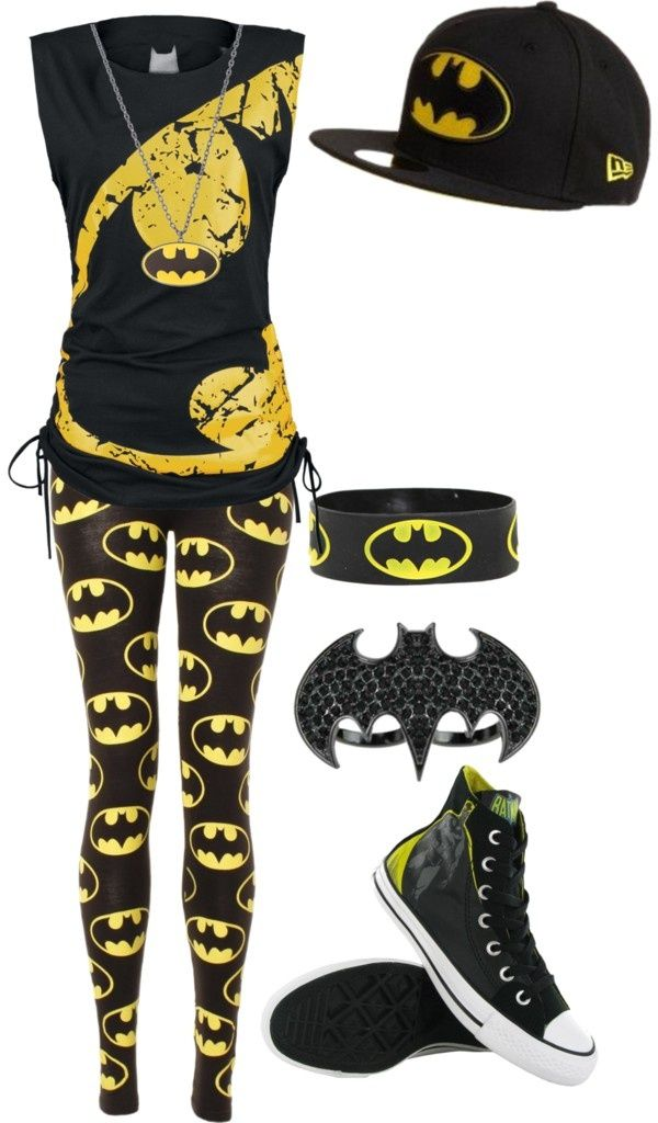 I love the hat and the shirt. I think the leggings are a little too much unless I'm going to Comic Con or Six Flags. lol