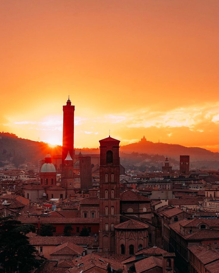 Sunset in Bologna