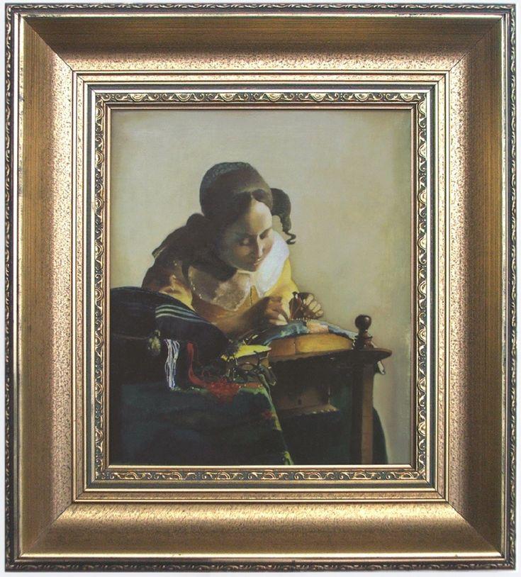 """Koronczarka"", reprodukcja obrazu Jana Vermeera z 1670 r. olej, płótno 25 x 21,5 cm"