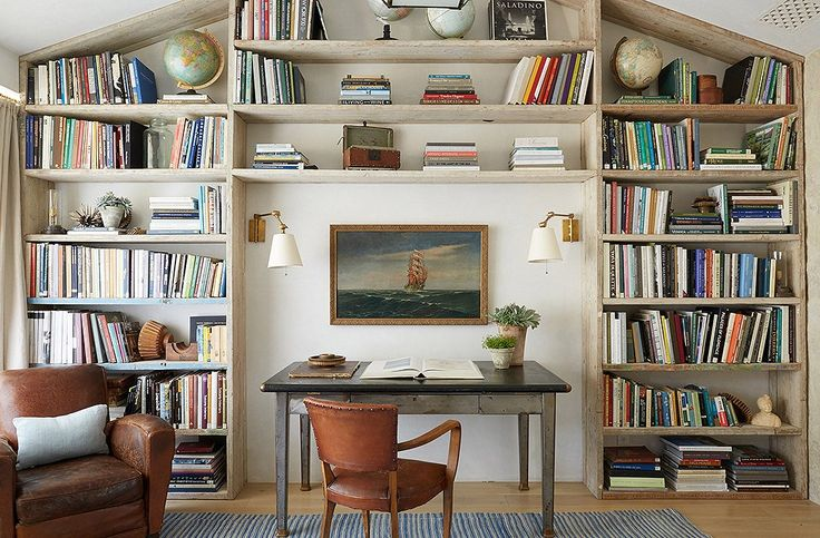 Sophisticated country home library design.