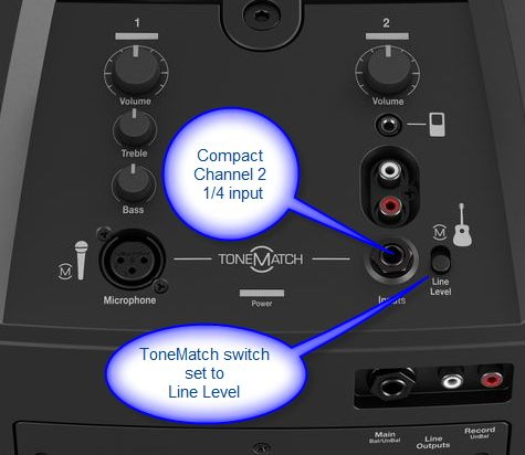 Input for a mixer on the L1® Compact. Learn more here http://toonz.ca/bose/wiki/index.php?title=L1%C2%AE_Compact